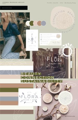 Flora Salon + Spa Mini Branding Package