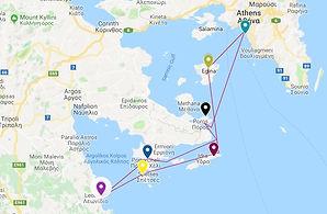 One week charter Saronic gulf