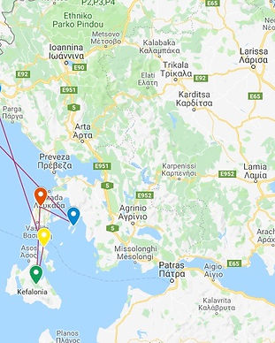 One week charter Ionian islands