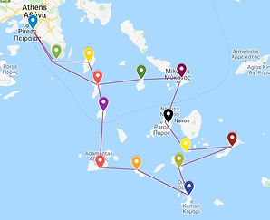 Two weeks charter Cyclades