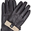 Thumbnail: Sandory Black Men's 100% Cashmere Lined Genuine Leather Gloves