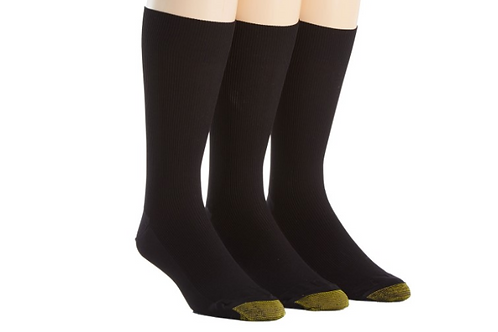 Gold Toe Metropolitan Dress Socks 3 Pack Black