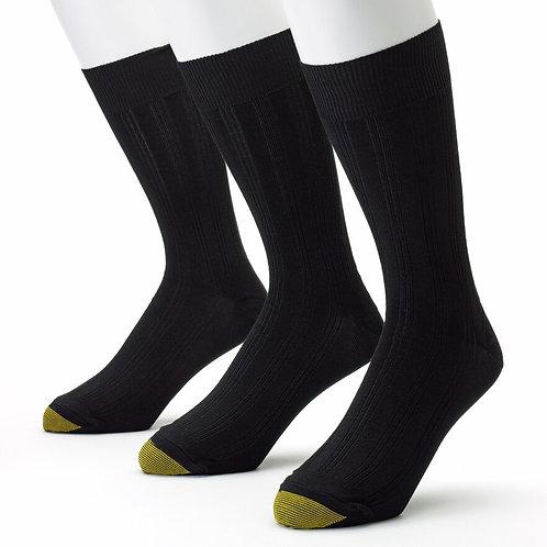 Gold Toe Middleton Men's Dress Rib Sock, 3 Pack
