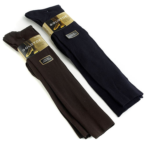Gold Toe Metropolitan Over The Calf Dress Socks 3 Pack Black