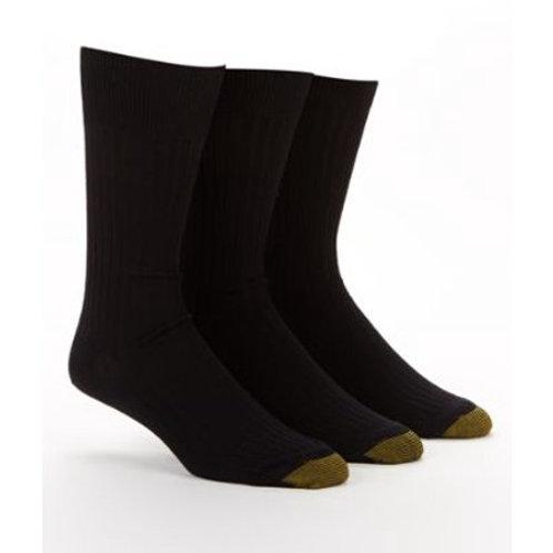 Gold Toe Canterbury Dress Socks 3 Pack Black