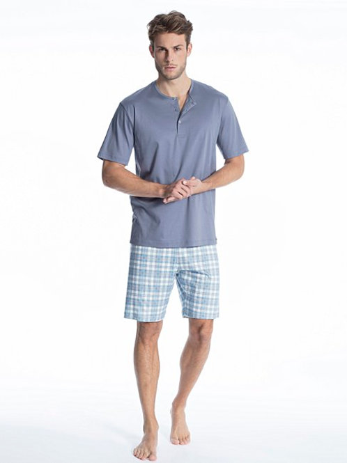 "Calida ""Relax Selected"" Short Sleeve 3 Button"