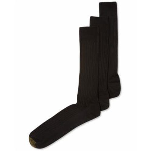 Gold Toe Canterbury Extended Size Dress Socks 3 Pack Black
