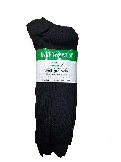 Burlington Interwoven Mens Socks 3 Pair Black