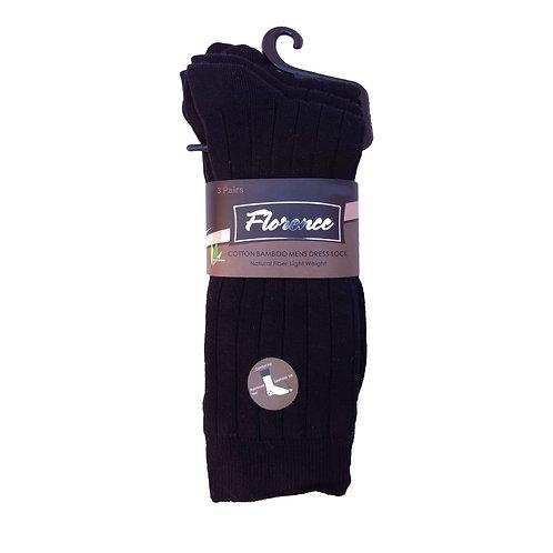 Florence Cotton Bamboo Men's Dress Sock's 3 Pairs