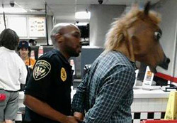 Armed Security in Fast Food Restaurant