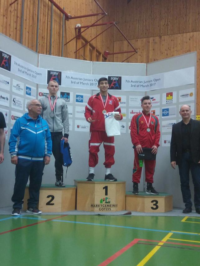Seleção Nacional de Juniores (GR) conquista um bronze e dois quintos lugares na Áustria