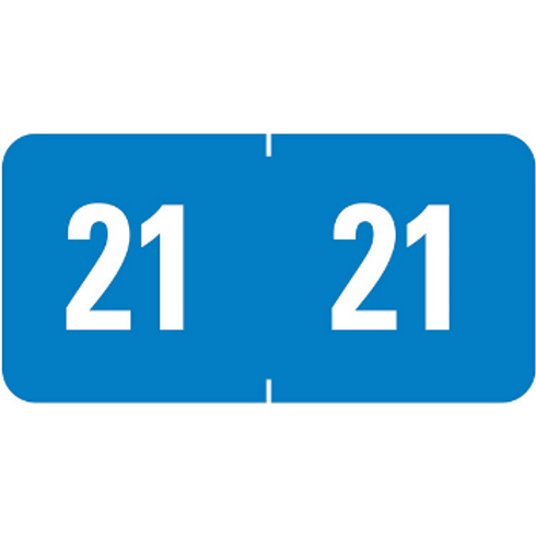 Year Label 2021 Blue, Model TR-4060