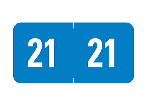 "Year 2021 Label 1"" W x 1/2"" H"