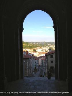 Depuis la Cathédrale du Puy en Velay