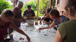 Community making Memorial Seat