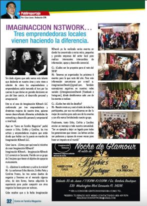 Entrevista Como en Familia Magazine