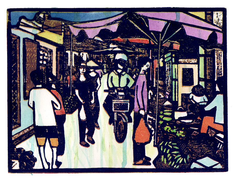 Alleyway market proof print