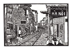 Railroad Alley Hanoi