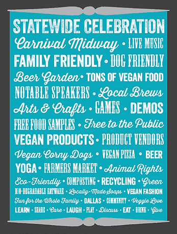 The Texas Veggie Fair in Dallas is a vegan festival!