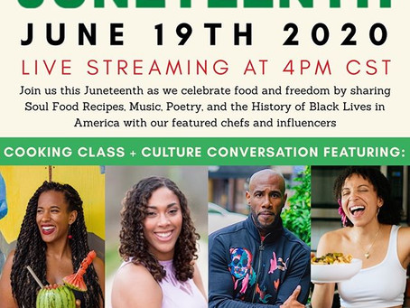 Juneteenth Celebration Live Stream Featuring DFW Chefs and Influencers