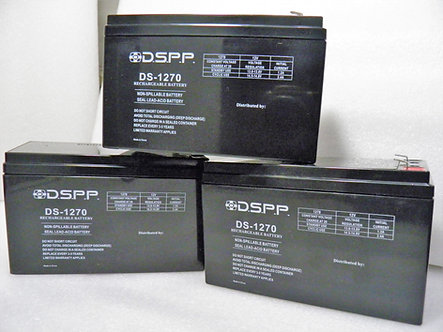 12 VOLTS 7 AMPS RECHARGEABLE BATTERY