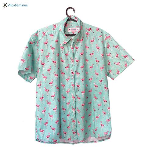 Camisa de Botão Flamingos