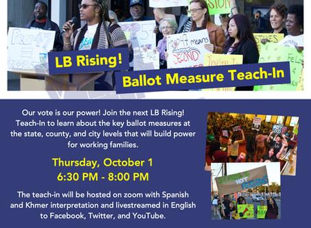 LB Rising! Ballot Measure Teach-In