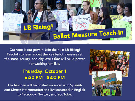 LB Rising! Ballot Measure Teach-In