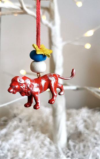 Rewild lion bauble red/white/blue