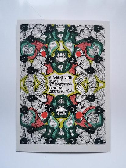 positivity postcard digital print