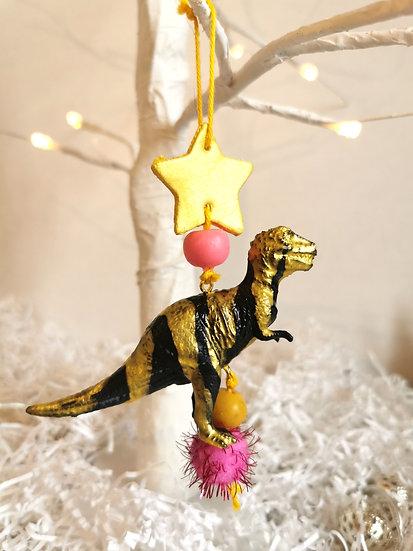 Rewild T-Rex bauble black/gold