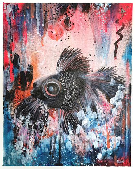 A5 Goldfish Print