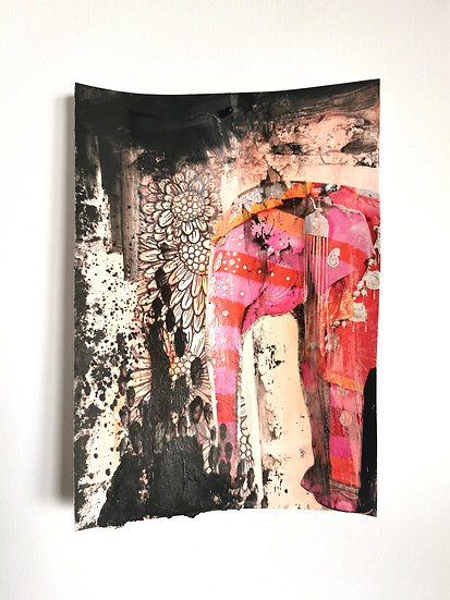 """Emancipation- Elephant- """"Life in colour"""" (unframed)"""