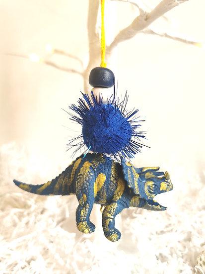 Rewild dinosaur bauble blue/gold