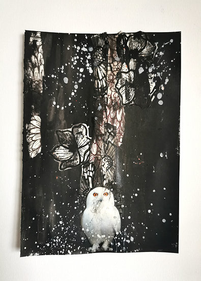 "Emancipation- Owl - ""Cold whispers"" (unframed)"