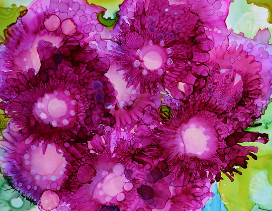 """Pink Bouquet"" signed print"