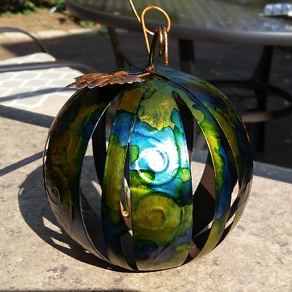 Small Metal Pumpkin votive cover