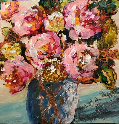 Ink/Acrylic Bouquet 1