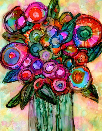 """Whimsy"", Original alcohol ink painting"