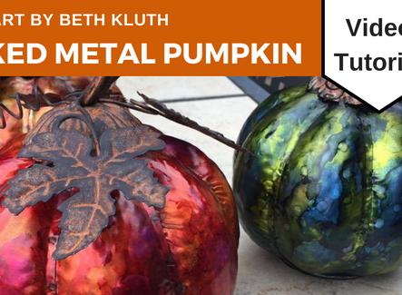 Inked Metal Pumpkin Tutorial