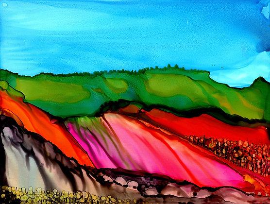 """""""Glowing Hillside"""""""