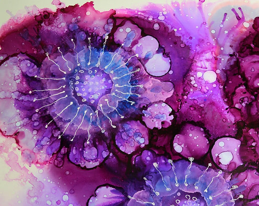 """Jelly Blooms"" signed print"