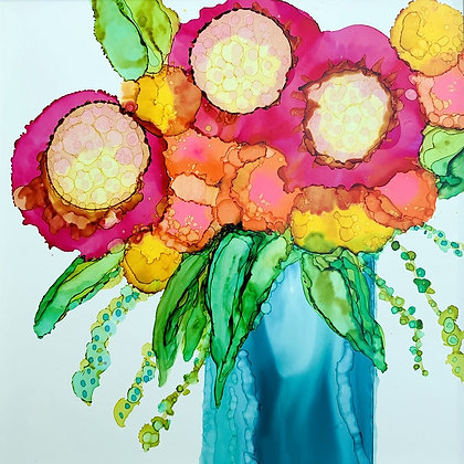 """""""Bright Bouquet"""" signed print"""