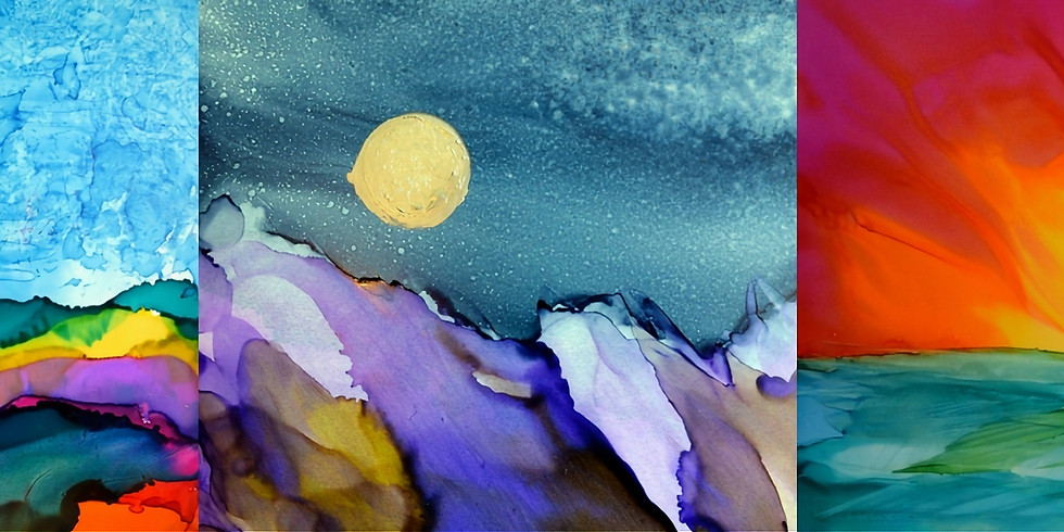 Abstract Landscapes with Alcohol Inks