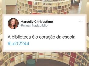 A biblioteca é o coração da escola. #Lei122444