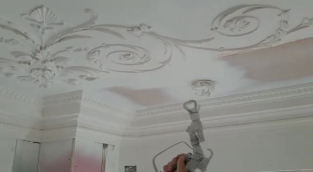 Spray painting ornate ceiling.mp4