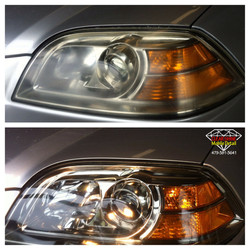 Headlight restoration before and after#