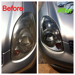 headlight beofre and after silver infinity