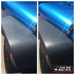 blue jeep  trim restoration before and after FINISHED
