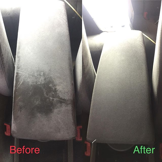 Interior Detailing Before and After ✔️👍🏻 #clearshinedetail #northwestarkansas #mobiledetailing #fa